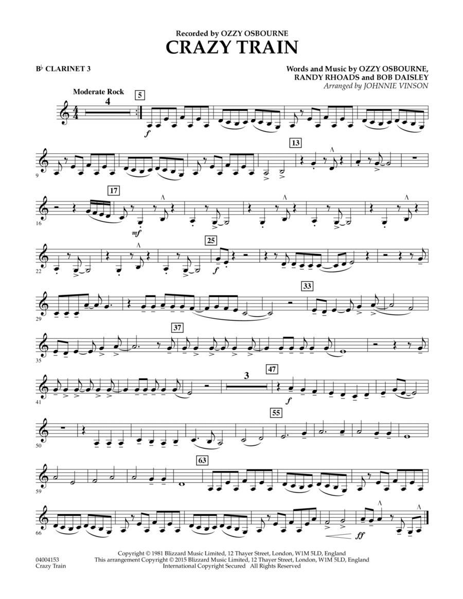 Crazy Train - Bb Clarinet 3