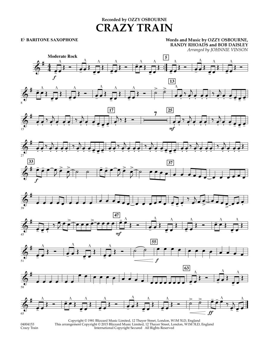 Crazy Train - Eb Baritone Saxophone