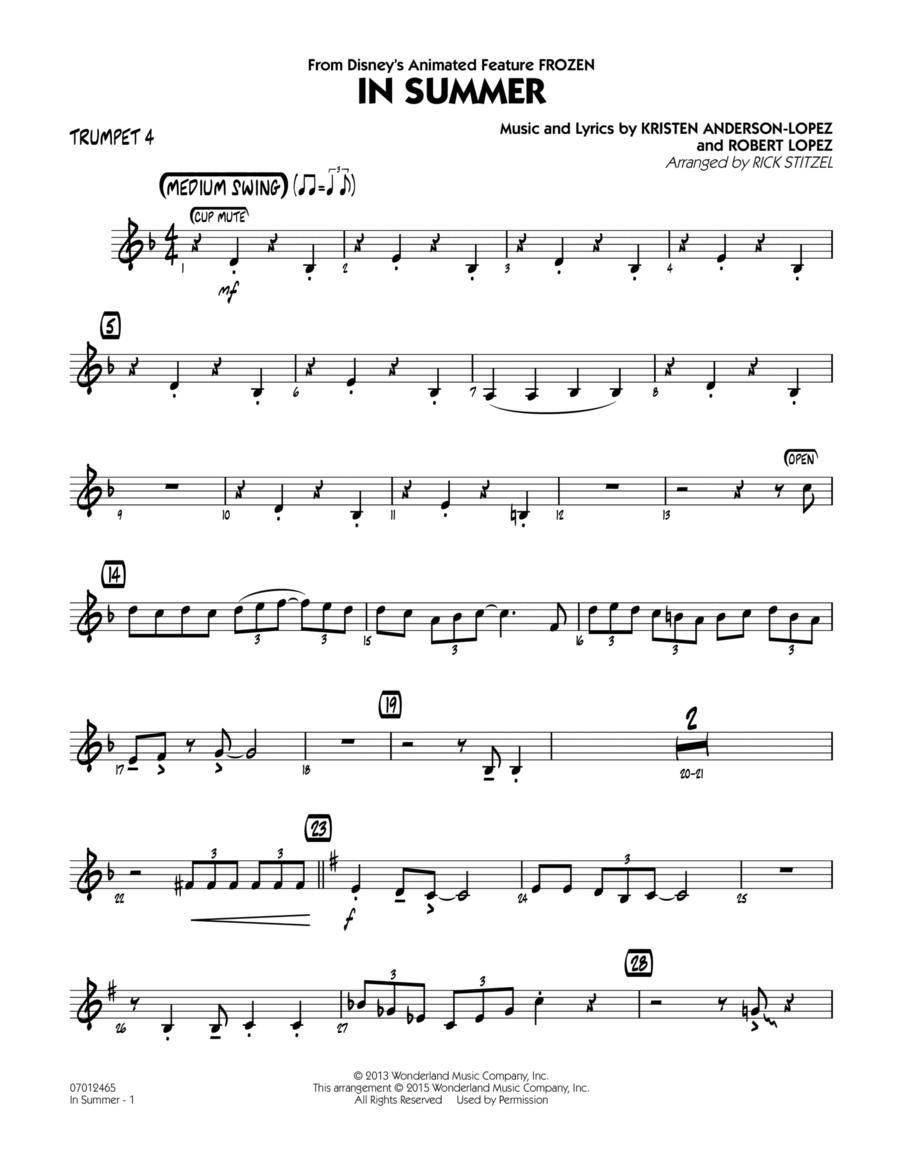 In Summer (from Frozen) - Trumpet 4
