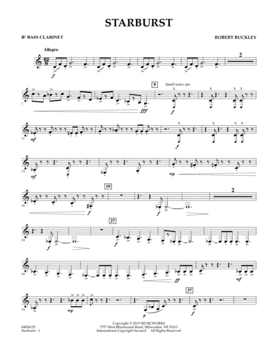 Starburst - Bb Bass Clarinet