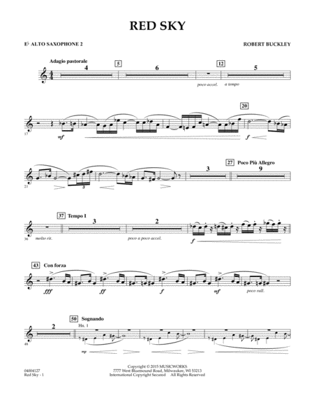 Red Sky (Digital Only) - Eb Alto Saxophone 2
