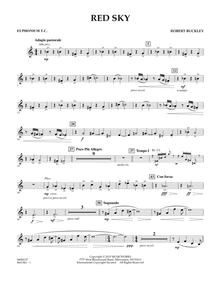 Red Sky (Digital Only) - Euphonium in Treble Clef