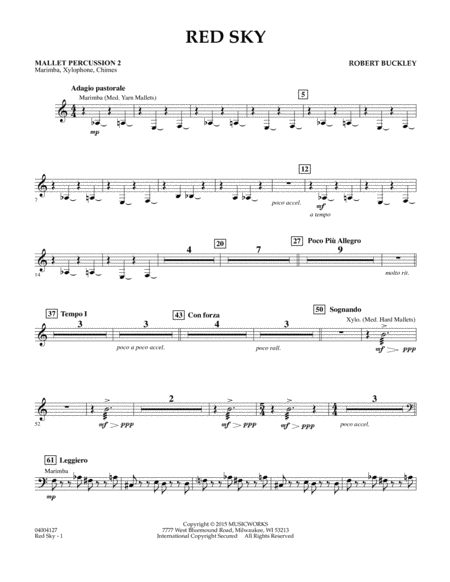 Red Sky (Digital Only) - Mallet Percussion 2