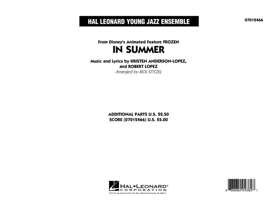 In Summer (from Frozen) - Conductor Score (Full Score)
