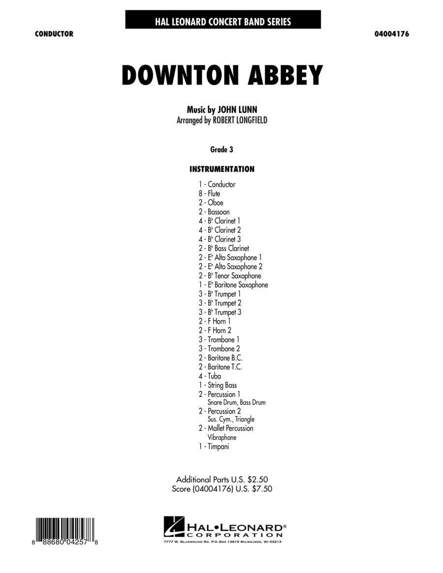 Downton Abbey - Conductor Score (Full Score)