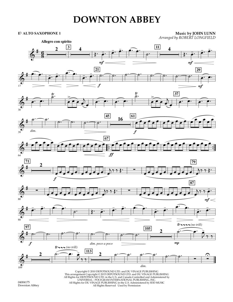 Downton Abbey - Eb Alto Saxophone 1