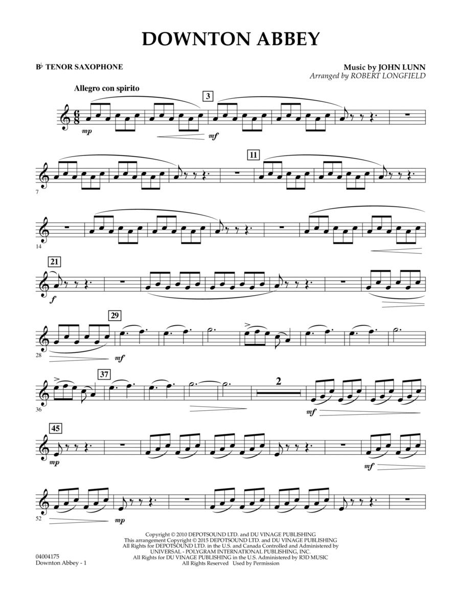 Downton Abbey - Bb Tenor Saxophone