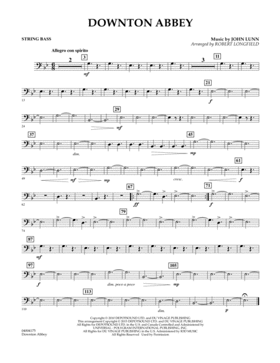Downton Abbey - String Bass