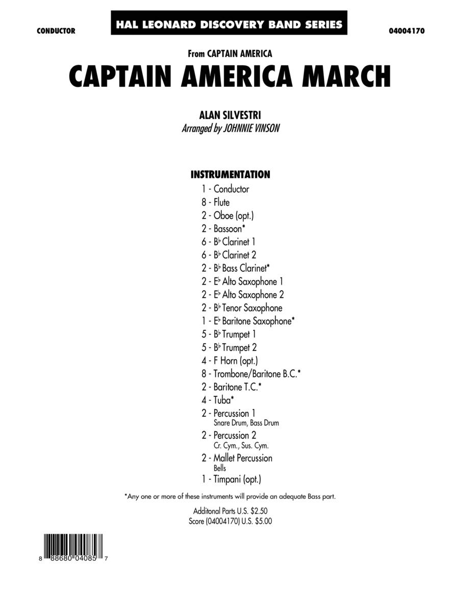 Captain America March - Conductor Score (Full Score)