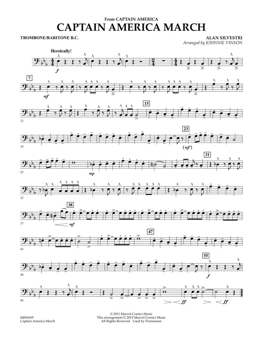 Captain America March - Trombone/Baritone B.C.