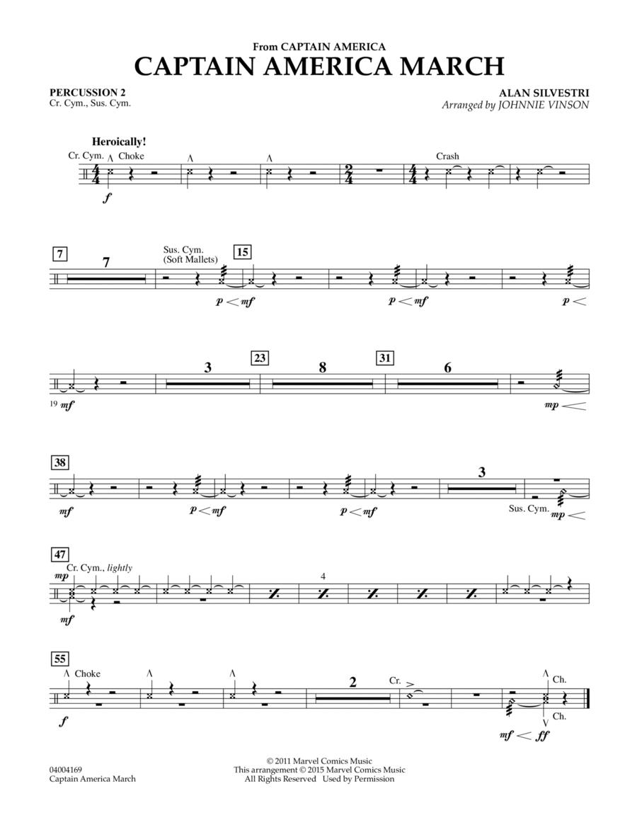 Captain America March - Percussion 2