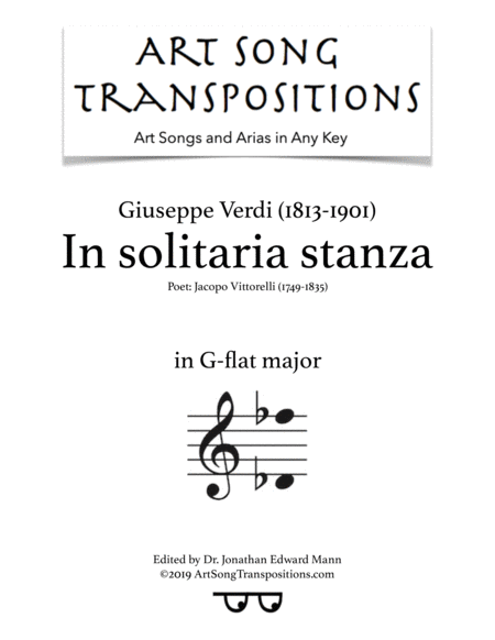 In solitaria stanza (G-flat major)