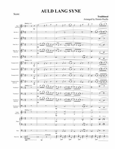 Auld Lang Syne - Jazz Band - Intermediate