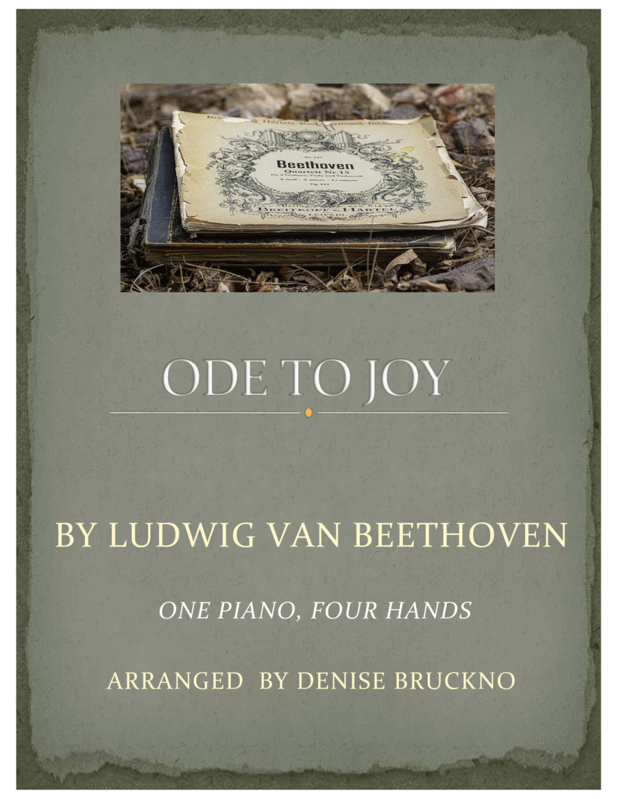 download ode to joy one piano four hands sheet music by ludwig van beethoven sheet music plus. Black Bedroom Furniture Sets. Home Design Ideas