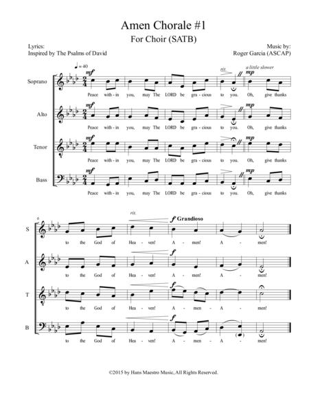 Amen Chorale #1 (SATB)