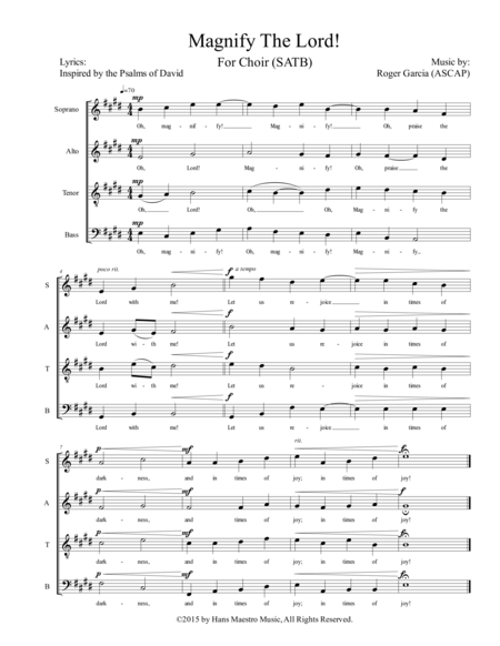 Magnify The Lord (SATB)