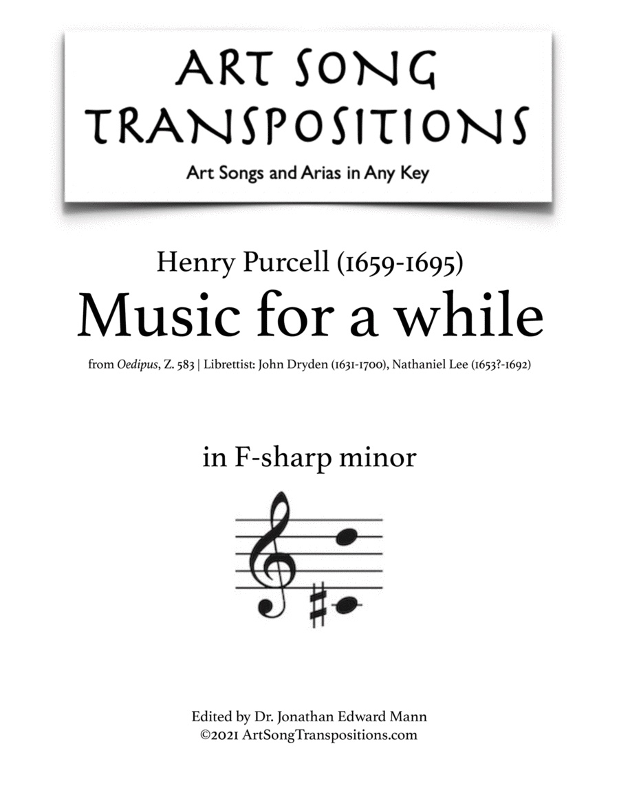 Music for a while (F-sharp minor)