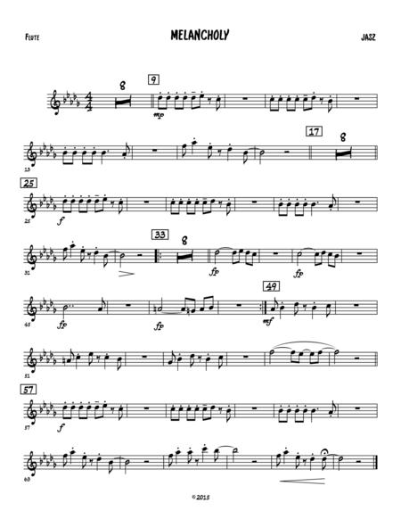 Melancholy - flute (C treble clef)