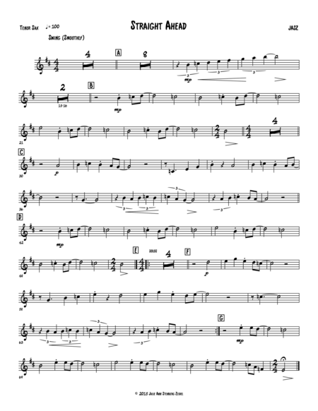 Straight Ahead - tenor