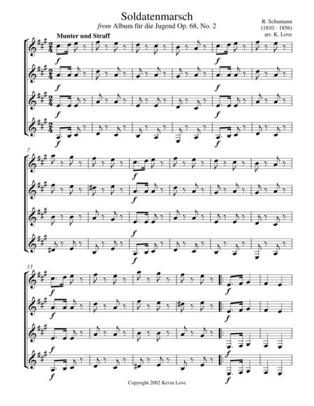 Soldatenmarsch (Guitar Quartet)