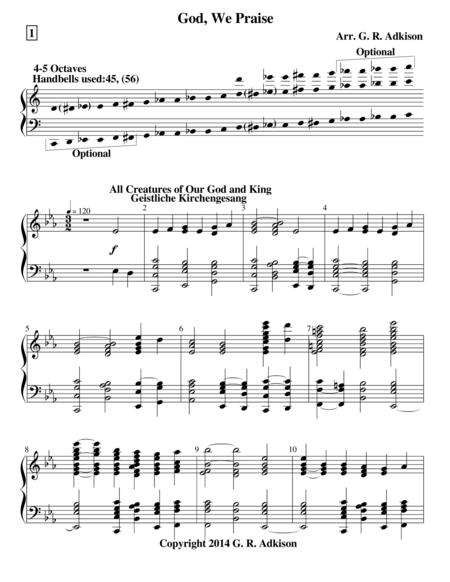 God, We Praise (4-5 octave handbell choir)