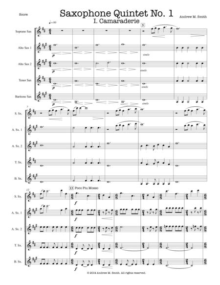 Saxophone Quintet No. 1