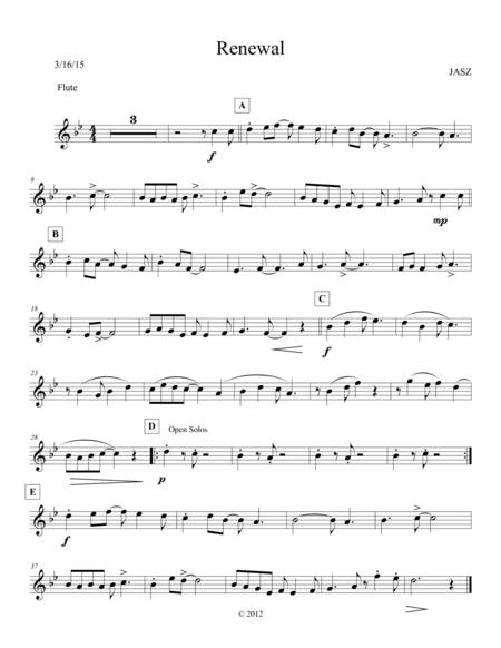 Renewal - Flute / C part