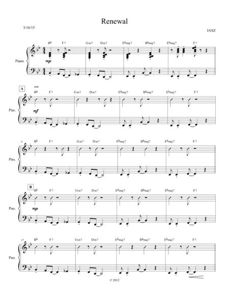 Renewal - Piano