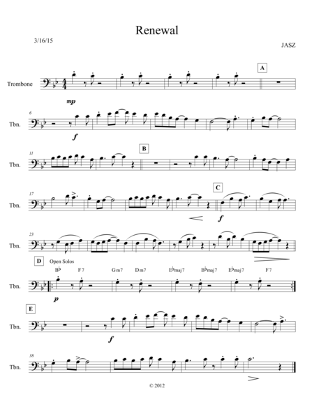 Renewal - trombone