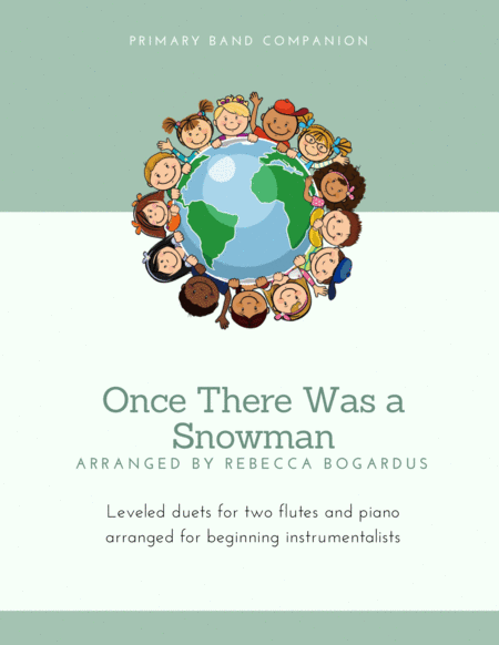 download once there was a snowman sheet music by moiselle