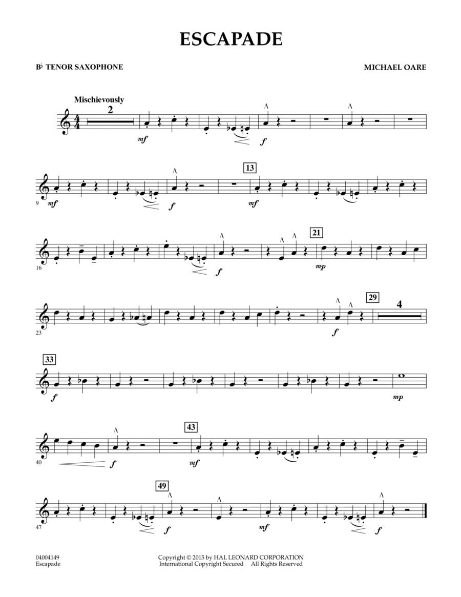 Escapade - Bb Tenor Saxophone