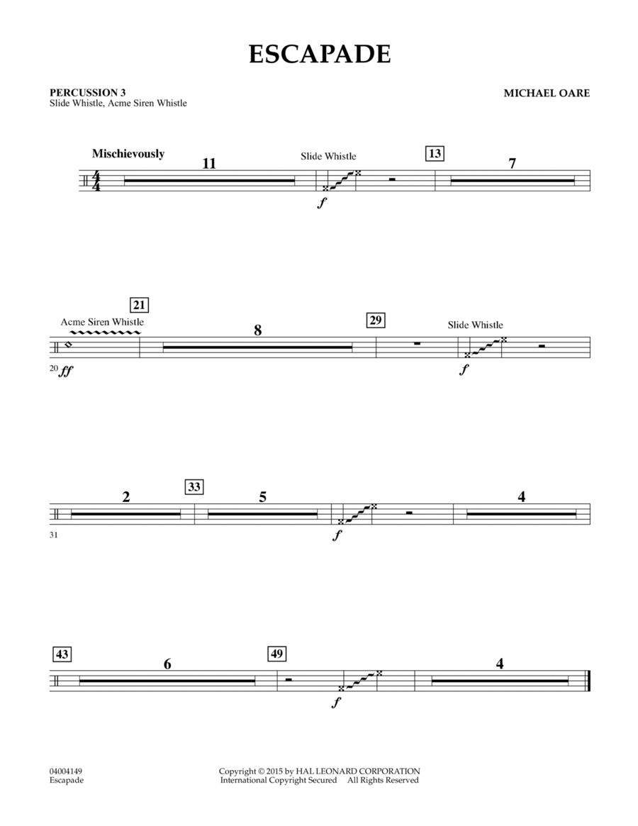 Escapade - Percussion 3