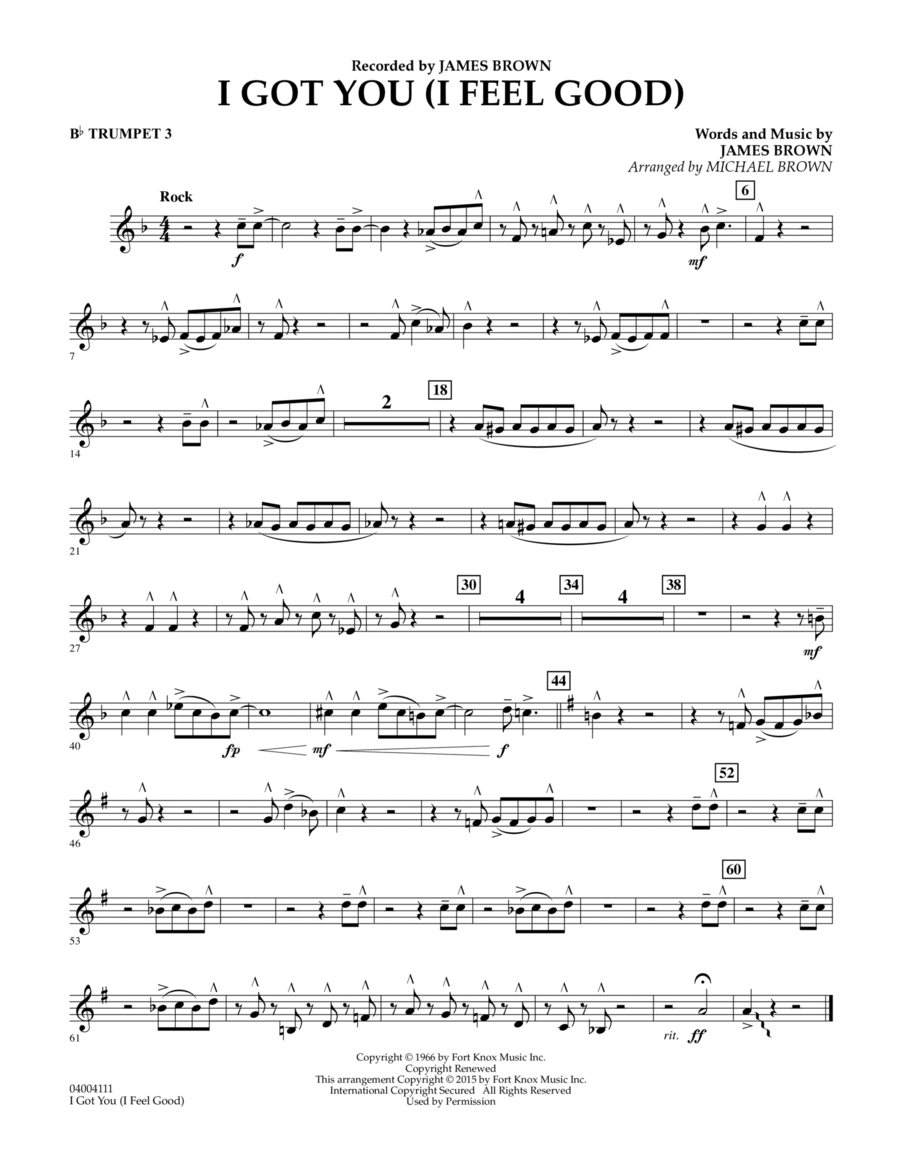 I Got You (I Feel Good) - Bb Trumpet 3