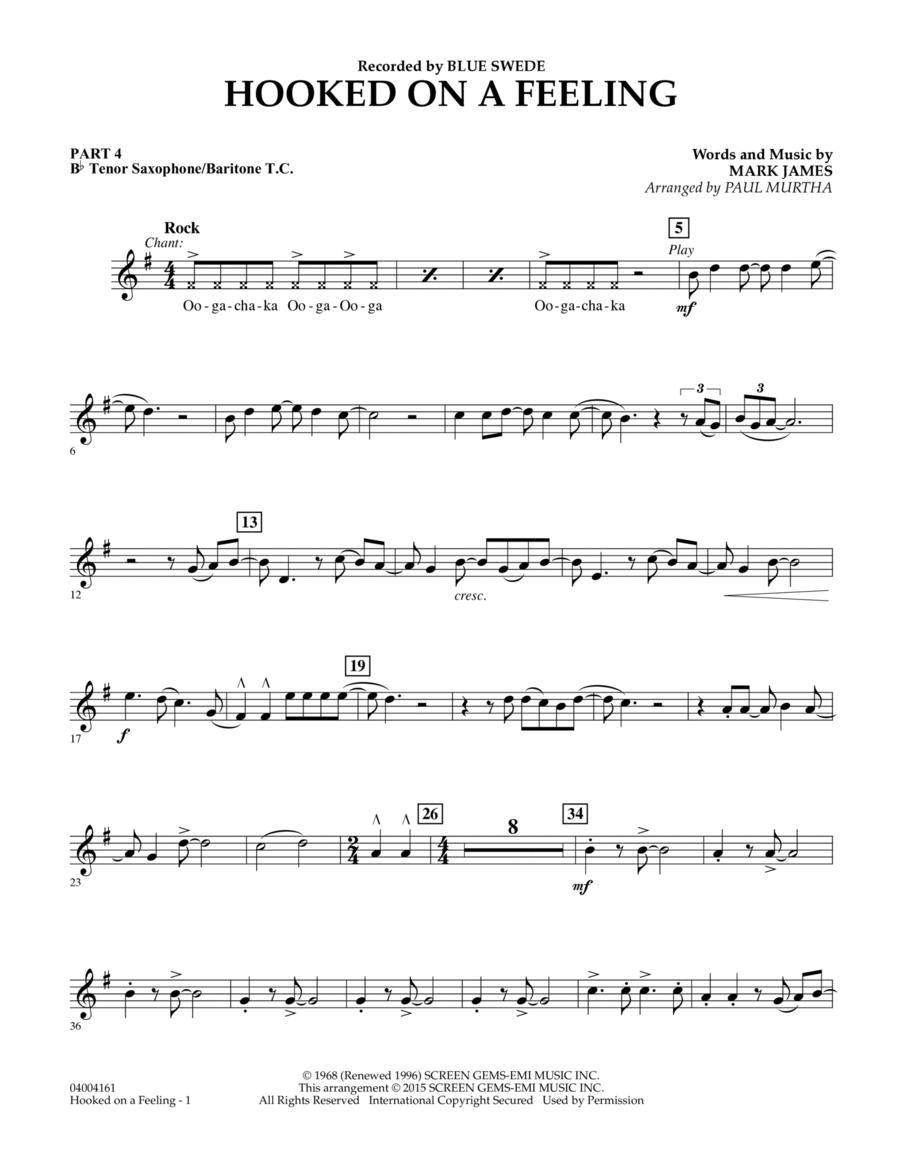 Hooked On A Feeling - Pt.4 - Bb Tenor Sax/Bar. T.C.