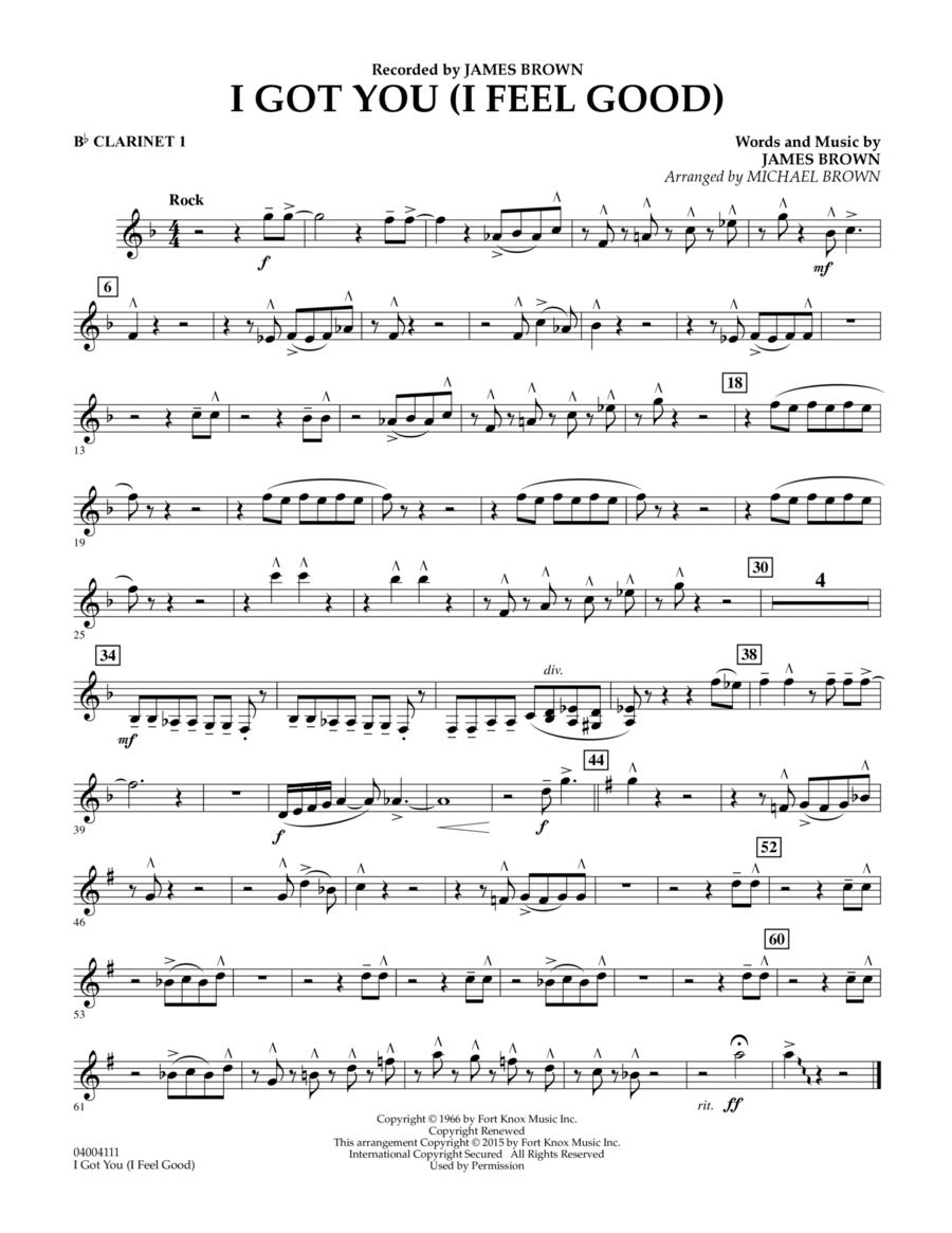 I Got You (I Feel Good) - Bb Clarinet 1