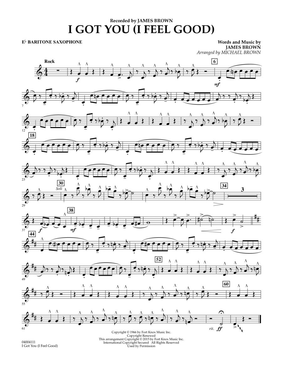 I Got You (I Feel Good) - Eb Baritone Saxophone