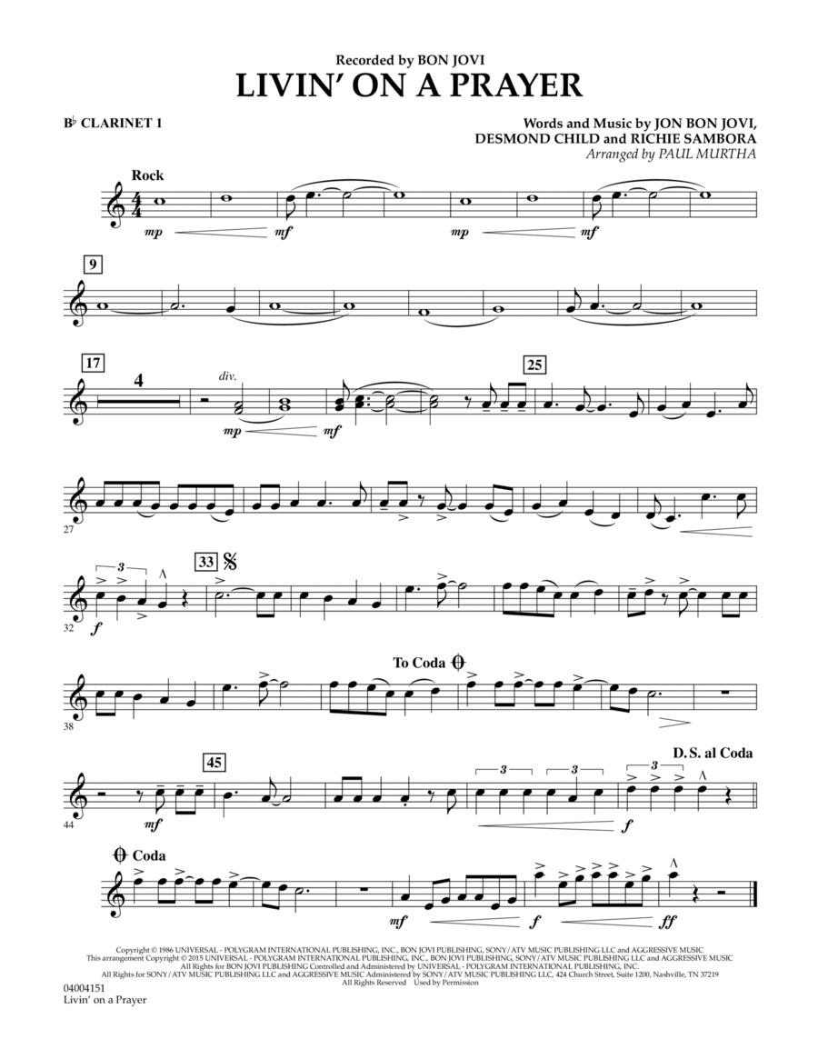 Livin' On A Prayer - Bb Clarinet 1