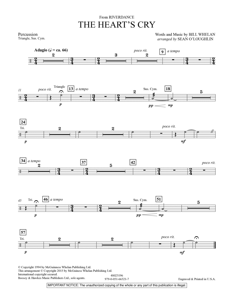 The Heart's Cry (from Riverdance) - Percussion