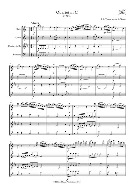 Vanhal Quartet in C arr.Woodwind Quartet