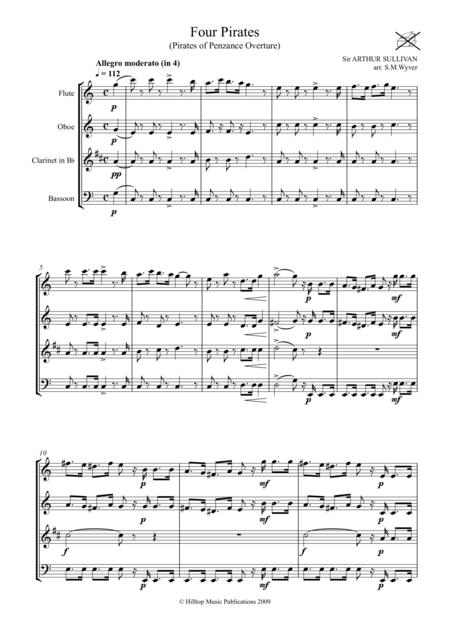 Pirates of Penzance Overture arr. woodwind quartet