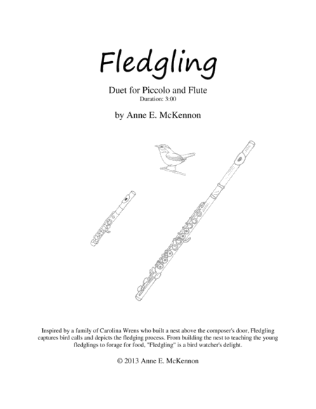Fledgling (flute piccolo duet)