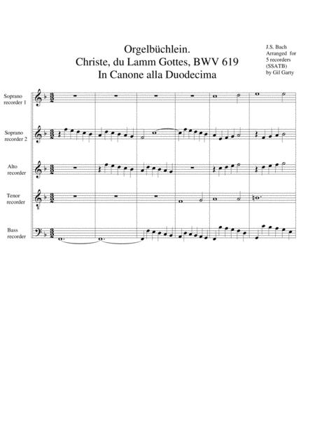 Christe, du Lamm Gottes, BWV 619 from Orgelbuechlein