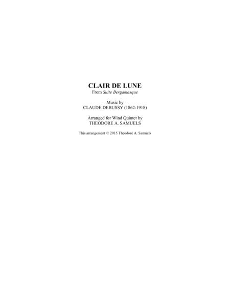 Clair de Lune from Suite Bergamasque