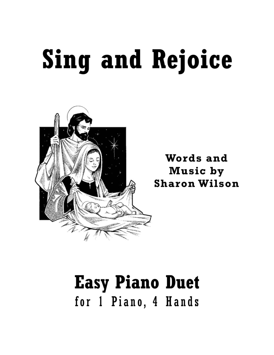 Sing and Rejoice (Easy Piano Duet; 1 Piano, 4 Hands)