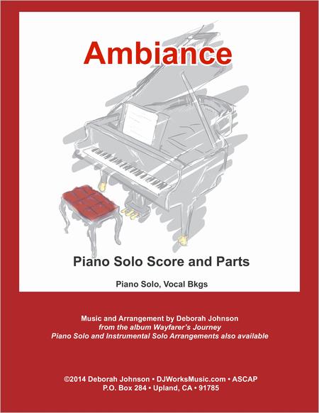 Ambiance Piano Solo Score