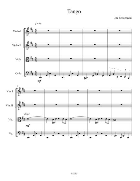Tango for string quartet