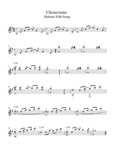 Choucoune Haitian Folk Song