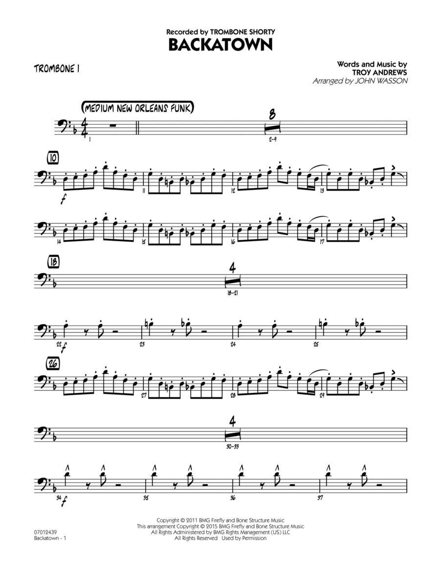 Backatown - Trombone 1