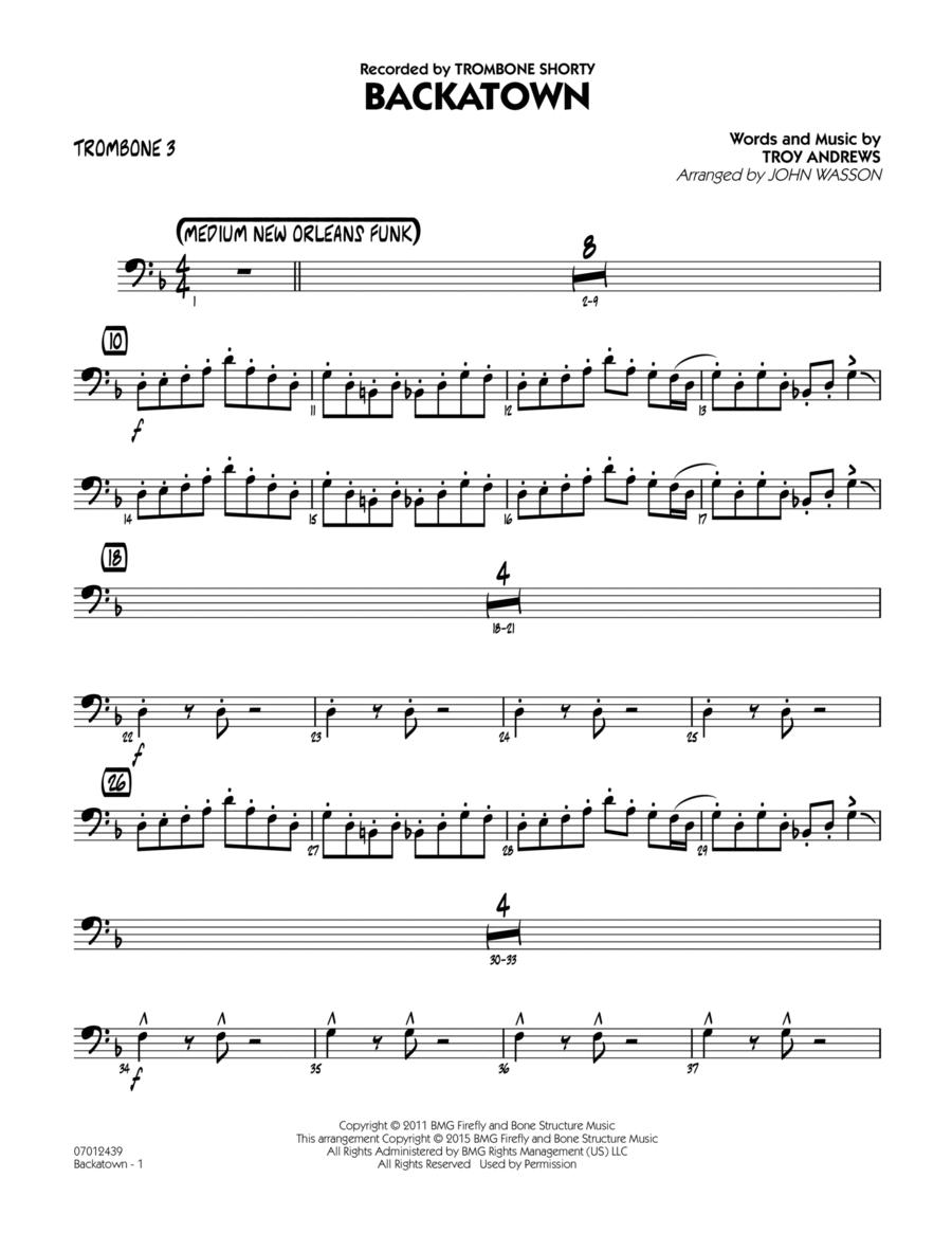 Backatown - Trombone 3