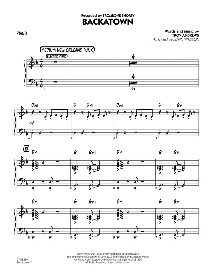 Backatown - Piano